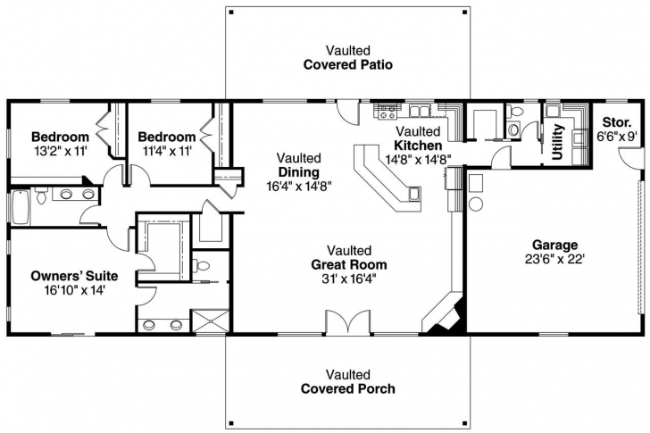 Top 15+ Best Ranch House / Barn Home / Farmhouse Floor Plans And Design Ranch House Plans Pic
