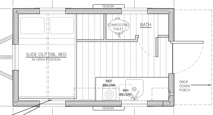 Top An Affordable Tiny House Design To Take Off The Grid Or Into The Tiny House House Plans Pic