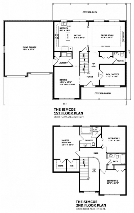 Top Canadian Home Designs - Custom House Plans, Stock House Plans Canadian House Floor Plans Pic