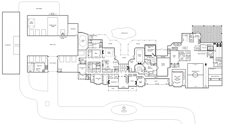 Top Download Mega Luxury Mansion Floor Plans | Spc House Expert Mansion House Plans Photo