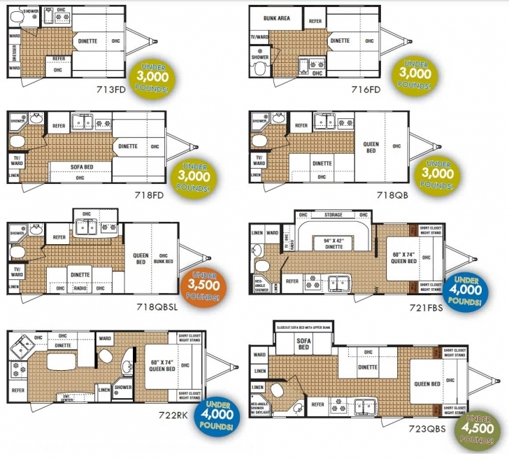 Top Dutchmen Aerolite Zoom Micro-Lite Travel Trailer Floorplans - Large Trailer Floor Plans Photo