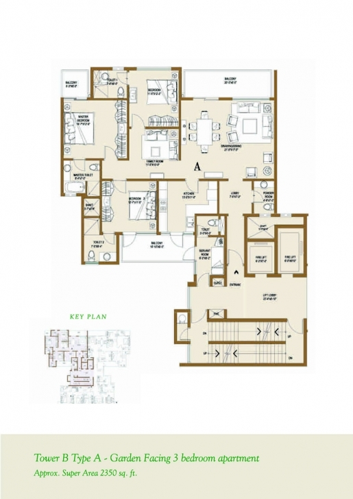 Top Floor Plan - Ventures & Investments - Central Park 2 At Sohna Road Central Park 1 Gurgaon Floor Plans Image
