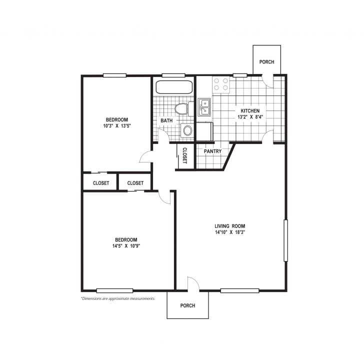 Top Photo of 2 Bedroom Floor Plans House | Cronicarul 2 Bed 2 Bath Floor Plans Pic