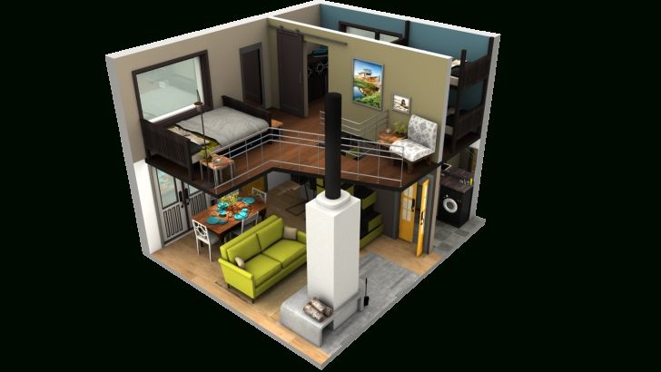 Top Photo of From Tinytackhouse. Including Loft Space It Is Just Under 500 Sf Tiny House Plans With Loft Picture