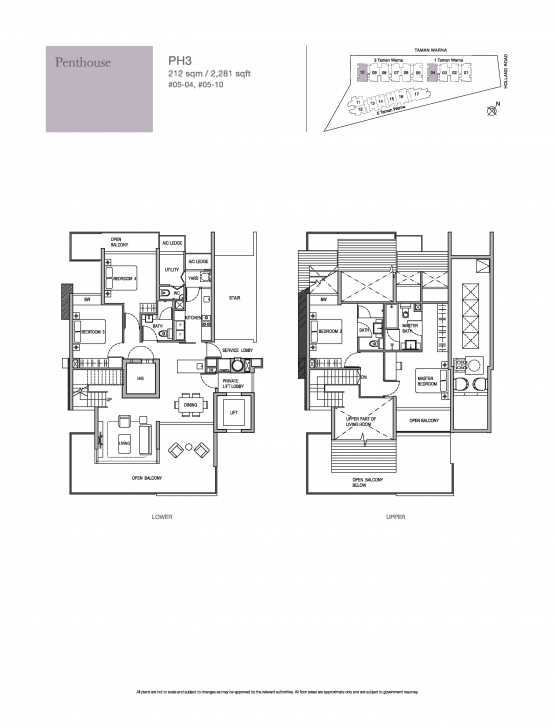 Top Photo of Penthouse-4 Bed - Holland Residences Holland Residences Floor Plan Pic