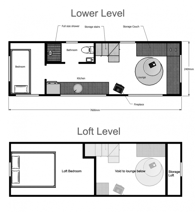 Top Photo of Tiny House Plans Suitable For A Family Of 4! Small Houses Plans Image