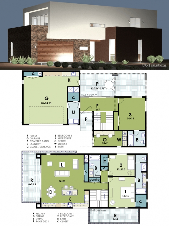 Top Photo of Ultra Modern Live-Work House Plan   Houses   Pinterest   Modern Ultra Modern House Plans Picture