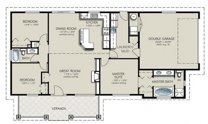 Top Simple 4 Bedroom House Plans 2 Bath Interior Fine Bed | Craigkeller 4 Bedroom 2 Bath House Plans Pic