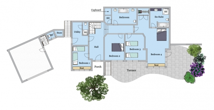 Top Tomhara – A Luxury Self-Catering Holiday Home In Rock, North Holiday House Floor Plans Photo