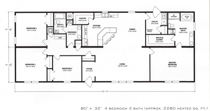 Wonderful 2 Bedroom House Plans Open Floor Plan 2 Bedroom House Plans Open 4 Bedroom 2 Bath House Plans Picture