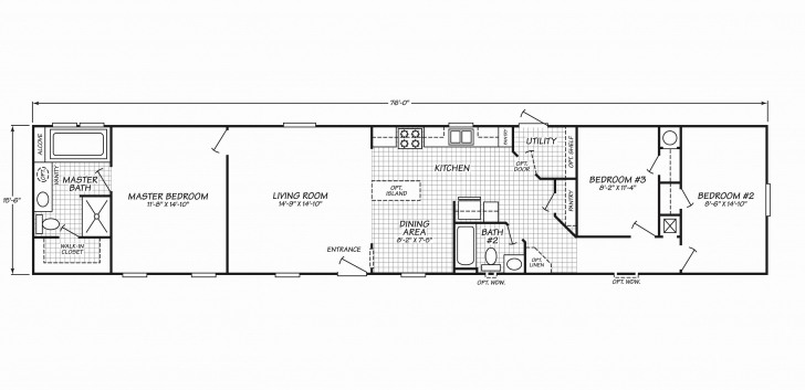 Wonderful 3 Bedroom Single Wide Mobile Home Floor Plans Elegant 17 New Single Single Wide Floor Plans Photo
