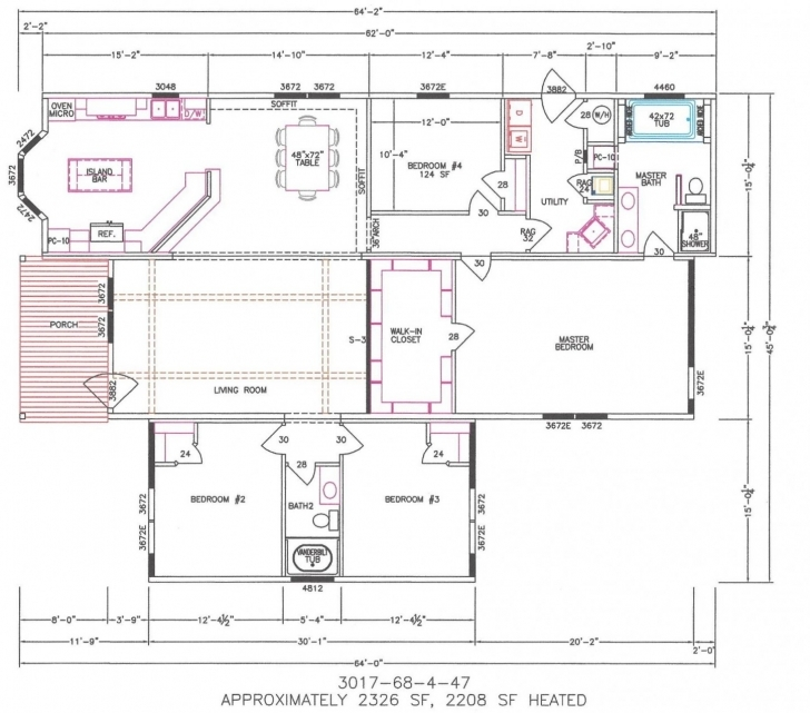 Wonderful Bedroom Modular Home Plans Simple Floor Br And 4 Double ...