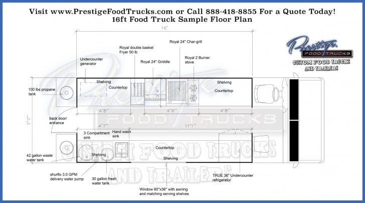 Wonderful Custom Food Truck Floor Plan Samples | Prestige Custom Food Truck Food Truck Floor Plans Image