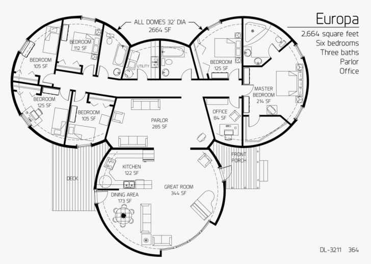 Wonderful Dome House Floor Plans Best Of 2 664 Square Feet Six Bedrooms Three Dome Home Floor Plans Picture