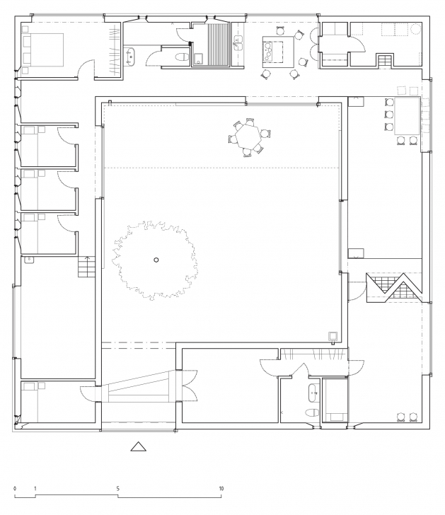 Wonderful Home Architecture A House With Courtyards Includes Floor Plans Atrium Floor Plan Pic