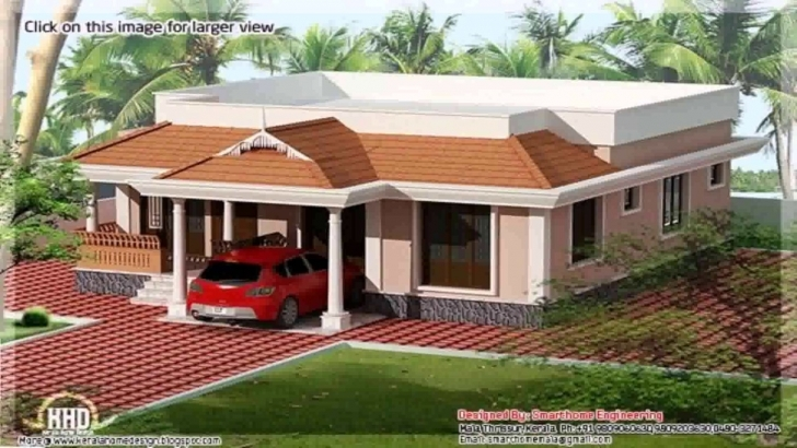 Wonderful Kerala Style 3 Bedroom House Plans Single Floor - Youtube Kerala House Plans Single Floor Picture