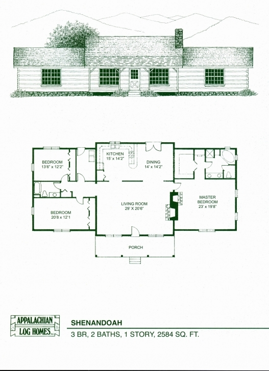 Wonderful Log Cabin Home Floor Plans Beautiful Open Floor Plan Ranch Style Log Home Ranch Floor Plans Image
