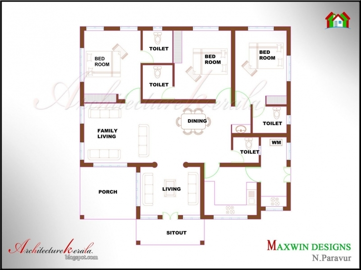 Amazing Kerala House Plan Photos And Its Elevations, Contemporary Style Floor Plans Kerala Style Houses Photo