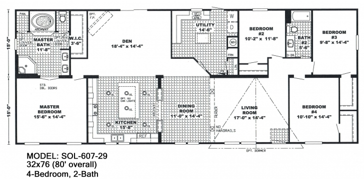 Awesome 4 Bedroom Double Wide Mobile Home Floor Plans Unique Double Wide Mobile Home Floor Plans Photo