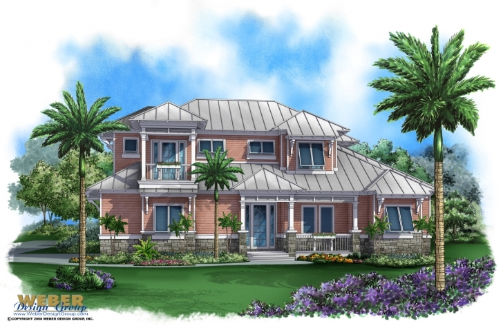 Awesome Caribbean House Plans: Tropical Island Style Beach Home Floor Plans Caribbean House Plans Picture