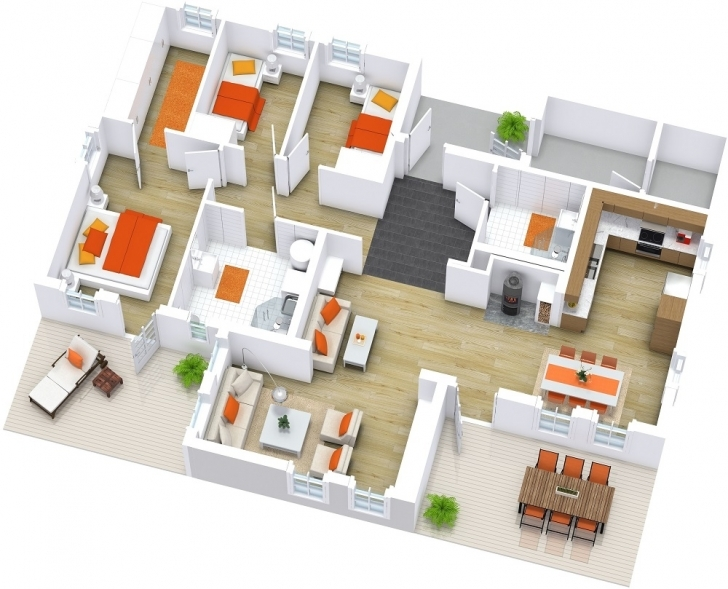 Awesome Modern House Floor Plans   Roomsketcher Modern House Plans Pic