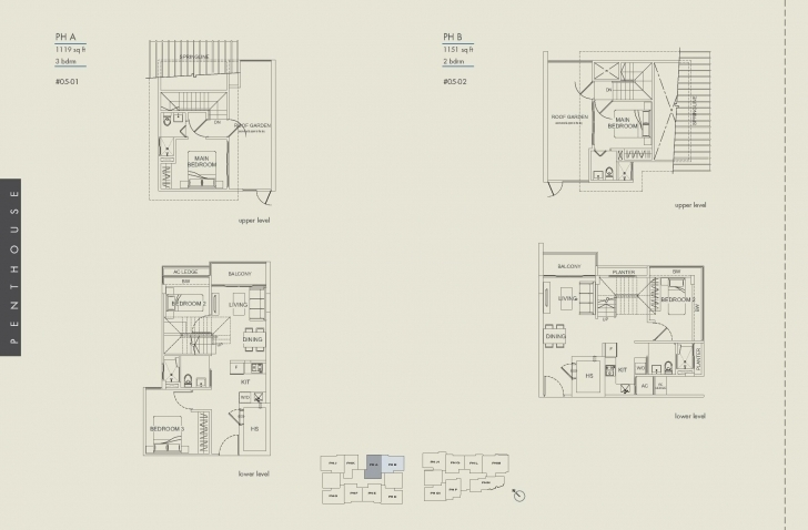 Best Penthouse-2/2+S/3 Bed - Suites De Laurel Laurel Floor Plan Pic