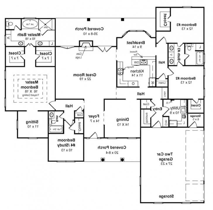 Brilliant 40 Best Of One Story House Plans With Basement Photograph 105345 House Plans With Basement Picture