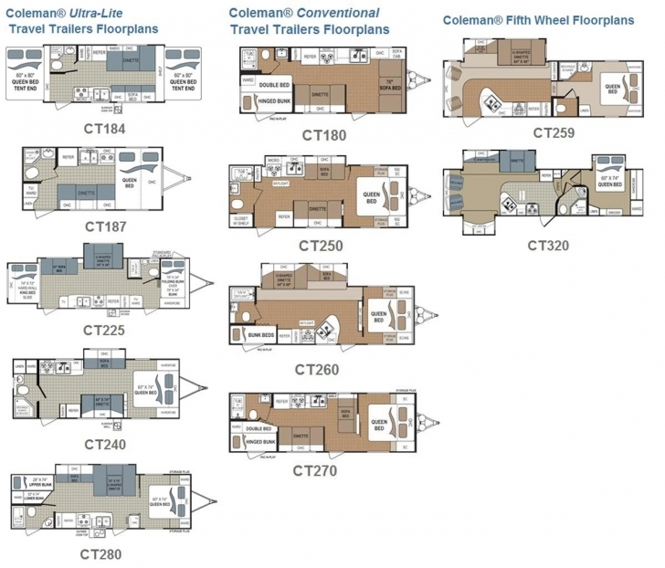 Brilliant Coleman Travel Trailer And Fifth Wheel Rvs Floorplans Small For Coleman Travel Trailers Floor Plans Picture