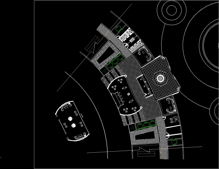 Brilliant Hotel Reception Plan And Section Dwg Plan For Autocad • Designs Cad Hotel Floor Plan Dwg Image