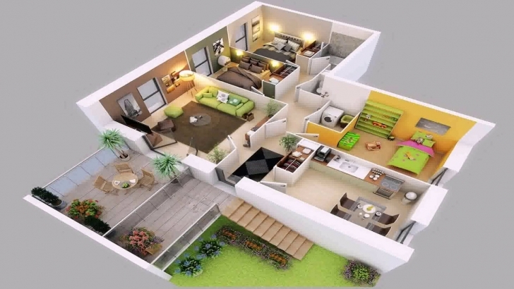 Exquisite 3D House Plans In 1000 Sq Ft - Youtube 3d House Plans Pic