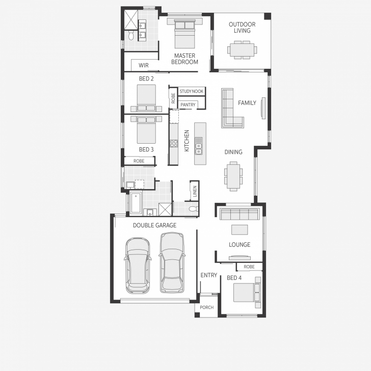 Exquisite Noosa Series: The Coastal Lifestyle Coral Homes Floor Plans Pic
