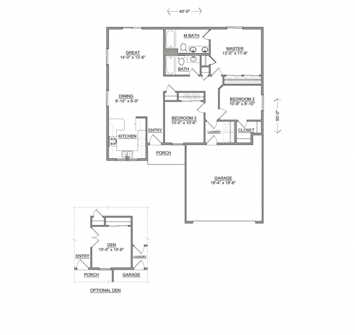 Exquisite The Clearwater | Three Bed, Two Bath New Hayden Home Clearwater Floor Plan Picture