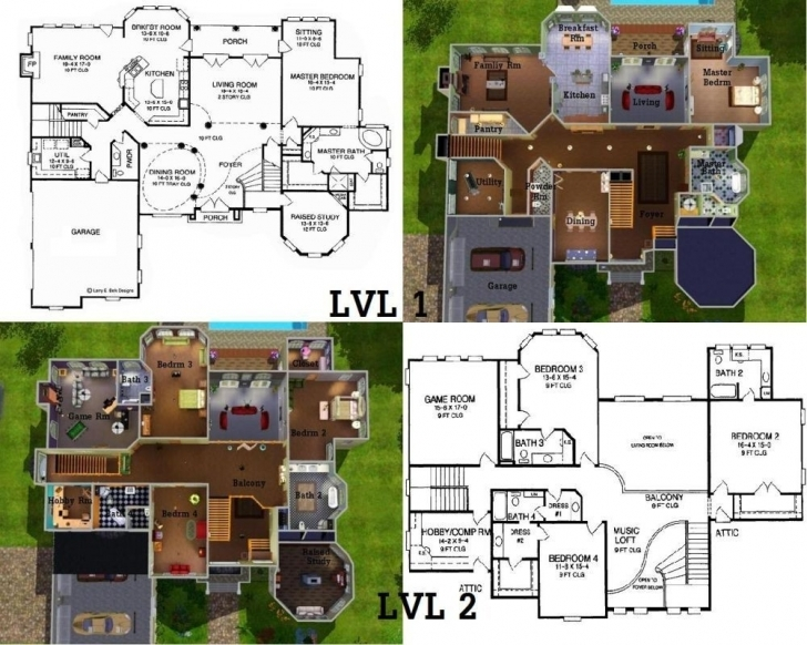 Fascinating Sims Mansion Floor Plans Best Of Sims 3 House Ideas - Byfield Sims Mansion Floor Plans Pic