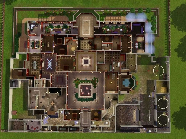 Fascinating Sims Mansion Floor Plans Rpisite Com Noticeable House - Musicdna Sims Mansion Floor Plans Picture