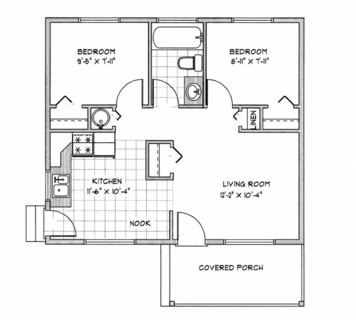Gorgeous Download 1000 Square Foot Cabin Floor Plans | Spc House Expert 1000 Square Foot House Plans Photo