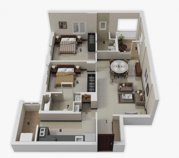 Great 3D House Plans Elegant 25 More 2 Bedroom 3D Floor Plans House Plans And More Image