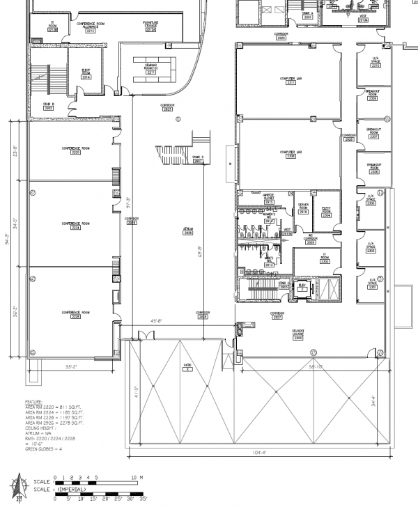 Great Richcraft Hall Atrium And Conference Rooms | Conference Services Carleton Floor Plans Picture