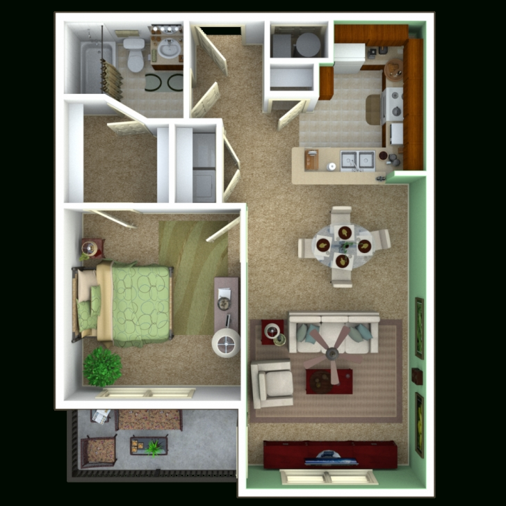Great Senior Apartments Indianapolis   Floor Plans 1 Bedroom House Plans Image