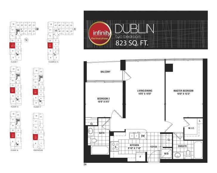 Image of Dublin – Infinity Condos At 19 & 30 Grand Trunk Cres & 25 & 51 Lower 30 Grand Trunk Crescent Floor Plans Photo