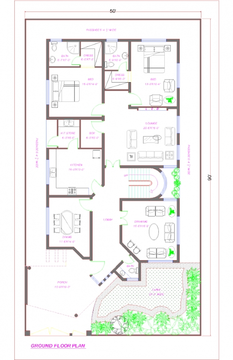 Image of Pin By Aish Ch On Pakistan House Plans In 2018 | Pinterest Pakistan House Designs Floor Plans Pic