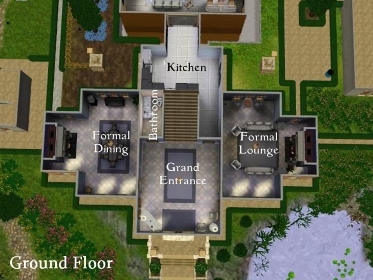 Image of Sims 3 House Plans Mansion Blueprints Awesome The Sims 3 Blueprints Sims 3 Mansion Floor Plans Pic