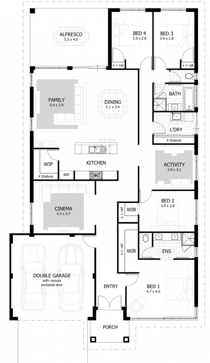 Incredible 4 Bedroom House Plans & Home Designs | Celebration Homes Four Bedroom House Plans Picture