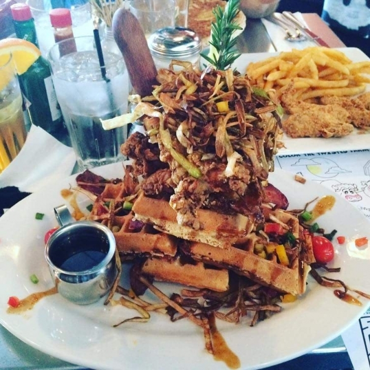Inspirational Chicken And Bacon Infused Waffles - Yelp Waffle House Plano Tx Photo