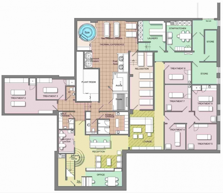 Inspirational Day Spa Floor Plan Design As Well As 57 Awesome Pics Day Spa Floor Floor Plan Of A Spa Picture