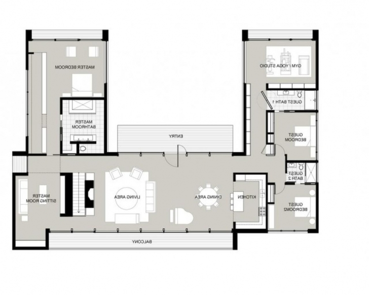 Inspirational Luxury U Shaped Floor Plan 16 Central Pool House Plans With U Shaped House Plans Picture