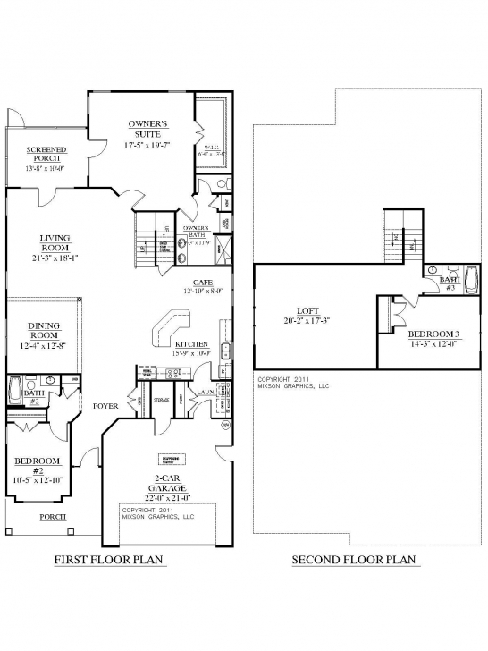 Inspiring House Plan 2755 Woodbridge Floor Plan - Traditional 1-1/2-Story 1 1 2 Story House Plans Photo