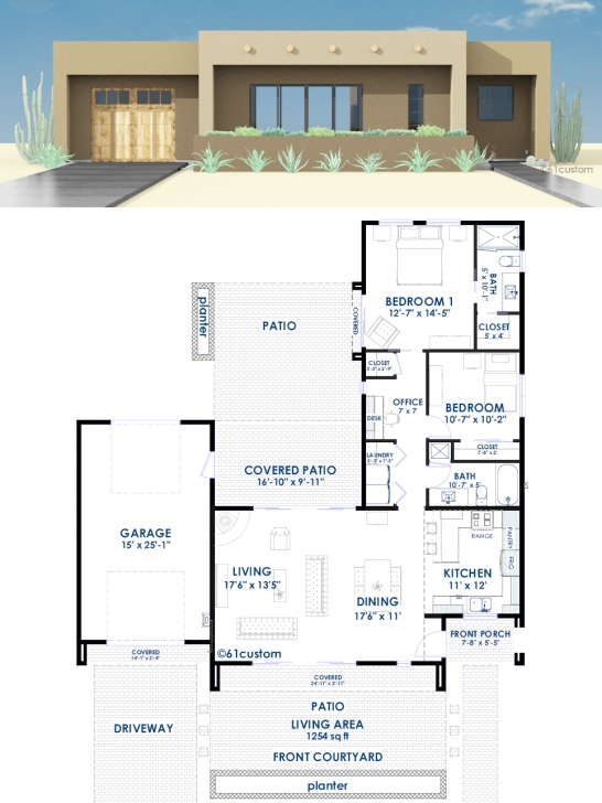 Inspiring Modern House Plans, Floor Plans, Contemporary Home Plans | 61Custom Modern House Floor Plans Photo