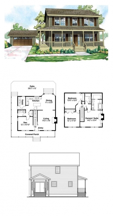 Latest Saltbox House Plan 60913 | Total Living Area: 1733 Sq. Ft., 3 Saltbox House Plans Pic