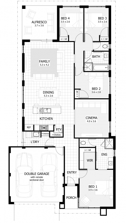 Marvelous New Home Designs Perth, Wa | Single Storey House Plans Homes Floor Plans Image