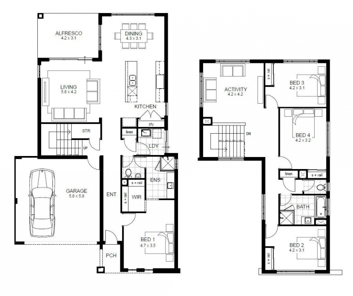 Most Inspiring Modern 2 Story House Plans With Garage Best Of Housing Plans Luxury 2 Story House Plans Pic